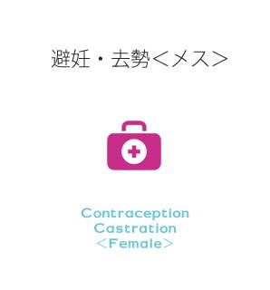 避妊・去勢<メス>